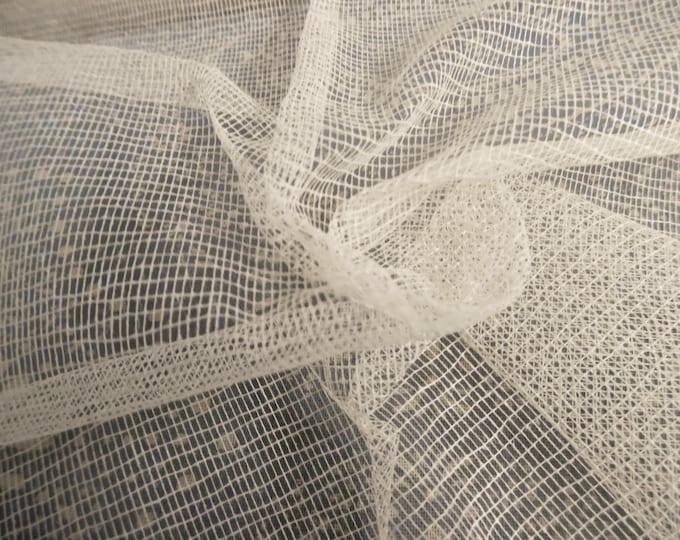 100% Cotton Fabric Stabilizer~Unbleached~Crinoline~Tartalan~Crisp~Great for Reproduction Clothing