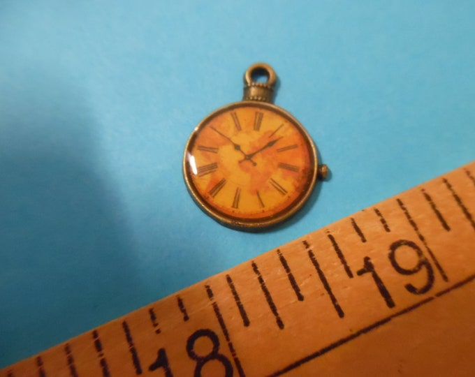 """New Doll Size Charms~Antique Style Stop Watch~Bronze~3/4""""~By the Piece~Chatelaines~Embellish Carpetbags~Sewing Kits"""