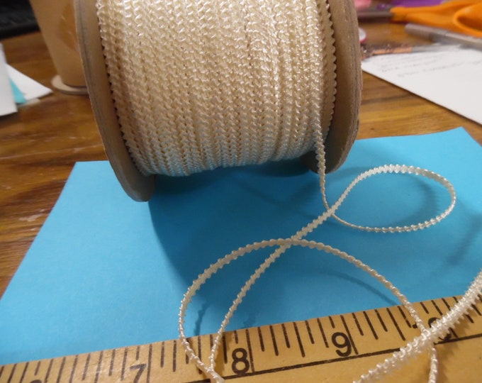 Imported Knobbly Braid~100% Rayon~2.5MM wide~Ivory~3 Yards~Doll Dress and Hat Trim!