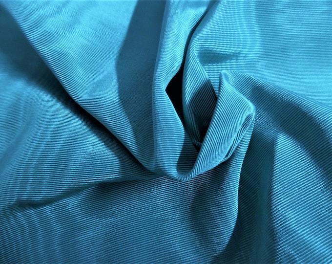 "Vintage Moire' Faille Taffeta~100% Rayon~Aqua~12""x50""~Doll Fabric"