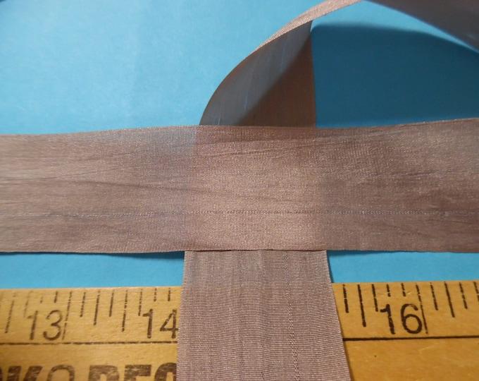 Wide Silk Ribbon~33MM x 1 Yard~CLOUD GRAY~Doll Dress and Hat Trim