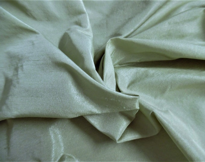 """Faux Silk Shantung~Pale Pear Green~12""""x54""""~Polyester~Great for Modern/Vintage Fashion Dolls"""