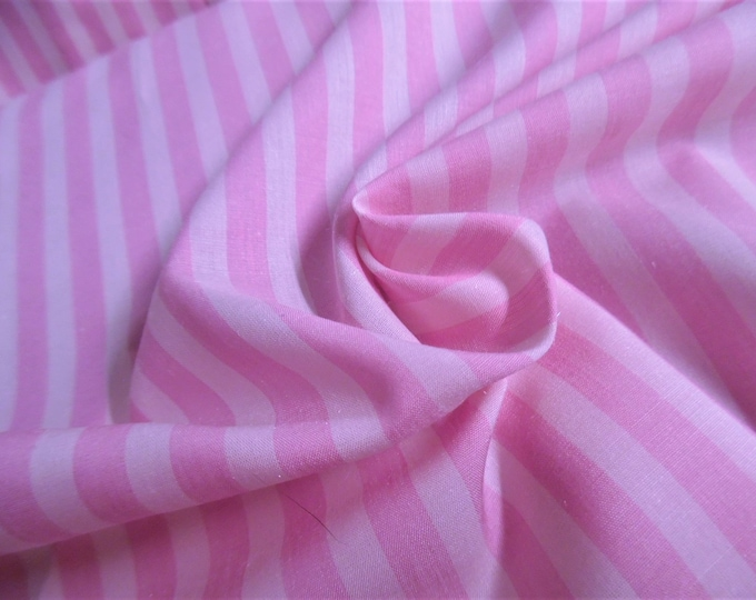 """Imported Stripe Cotton Batiste~Shades of Pink~12""""x45""""~Doll Fabric"""