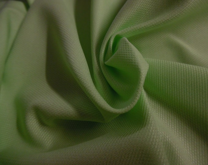 """Imported Swiss Cotton Pique~Spring Green~Soft~Semi Sheer~12""""x27""""~Doll Fabric"""