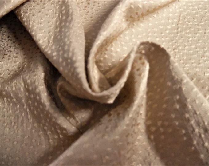 "Silk Jacquard~Micro Design~Golden Tan~Reversible~9""x27""~Doll Fabric~Miniatures"