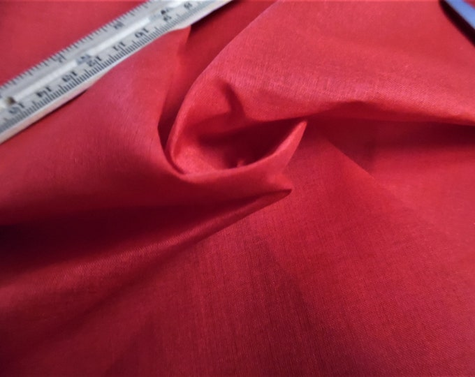 """Imported Swiss Cotton Organdy~Red~9""""x45""""~Sheer~Crisp~Reproduction Antique Doll Clothing"""