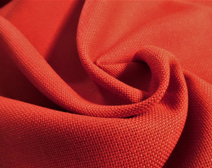 """Basketweave Wool Blend Suiting Fabric~Red~12""""x31""""~Great for Doll Coats"""