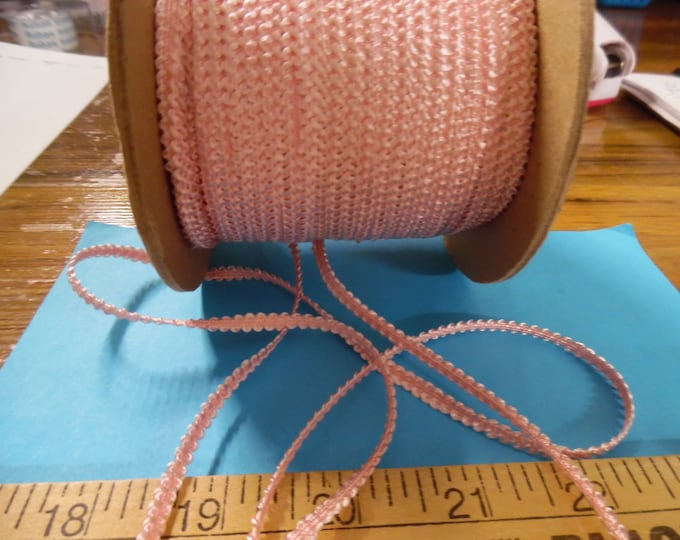Old Stock Passementerie Braid~Pink~Silky Rayon~3/16~BY THE YARD