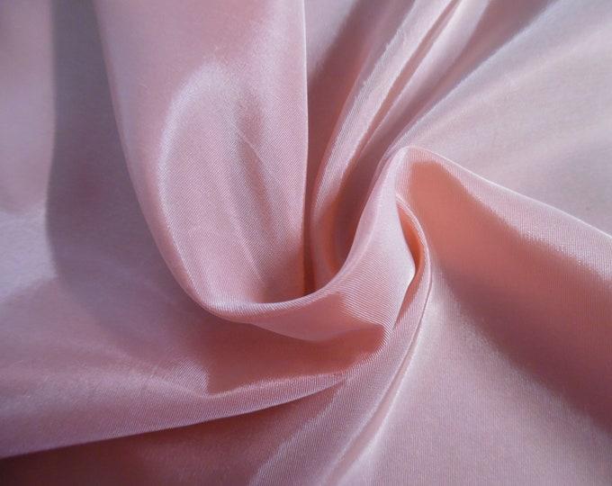 "Vintage Taffeta~100% Acetate~Dusty Pink~15""x43""~Doll Fabric"