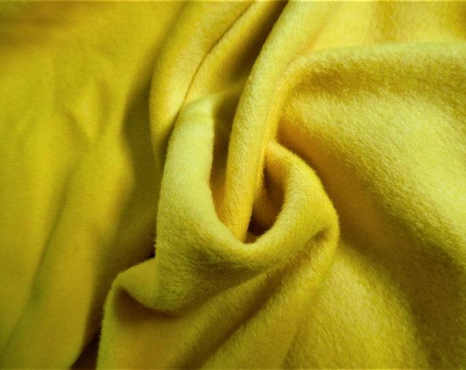 "Cashmere Wool Coating~Dandelion Yellow~12""x30""~Doll Fabric"