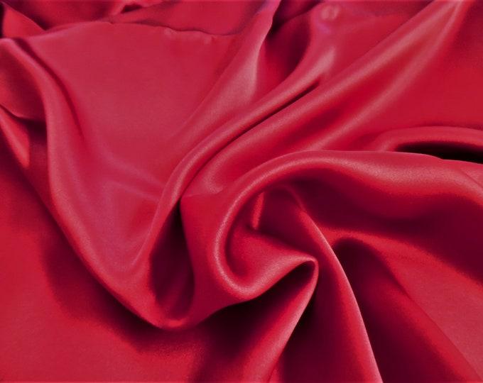 """Silk Charmeuse~Carmine Red~9""""x45""""~Doll Fabric"""