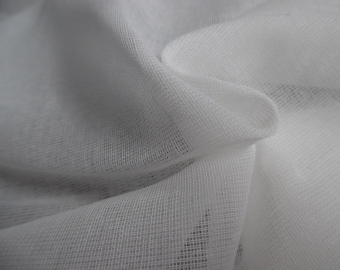 """100% Cotton Scrim~Bright White~Light Weight~Sheer~18""""x54""""~Reproduction Antique Doll Clothing"""