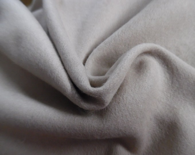 """Wool Blend Flannel Suiting~Warm Beige~12""""x29""""~Great for Doll Coats"""