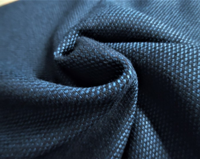 """Wool Blend Suiting~Novelty Weave~Peacock Blue/Black~12""""x30""""~Doll Fabric"""