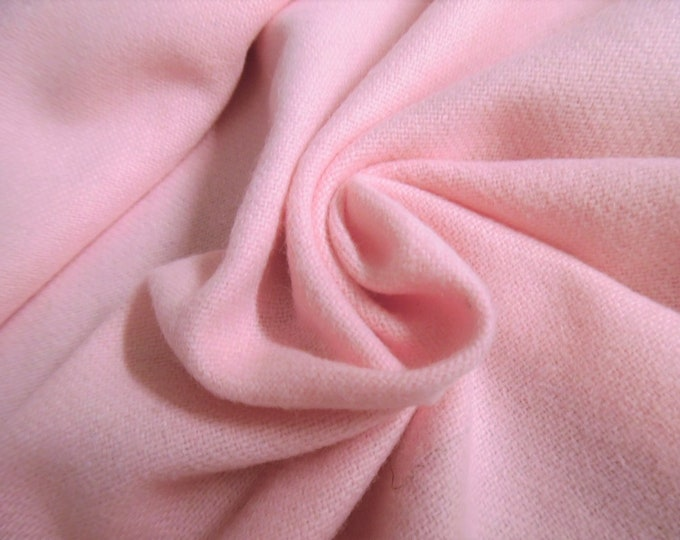 """Wool Flannel Suiting~Baby Pink~12""""x30""""~Doll Fabric"""