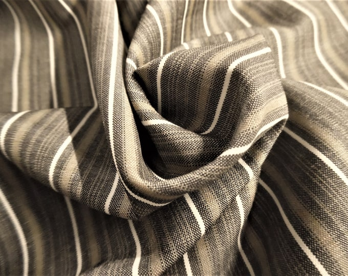 """CLEARANCE! 100% Wool Italian Suiting~Muted Stripes~Olive Brown/White~12""""x62""""~Lt.Weight~Great for Dolls"""