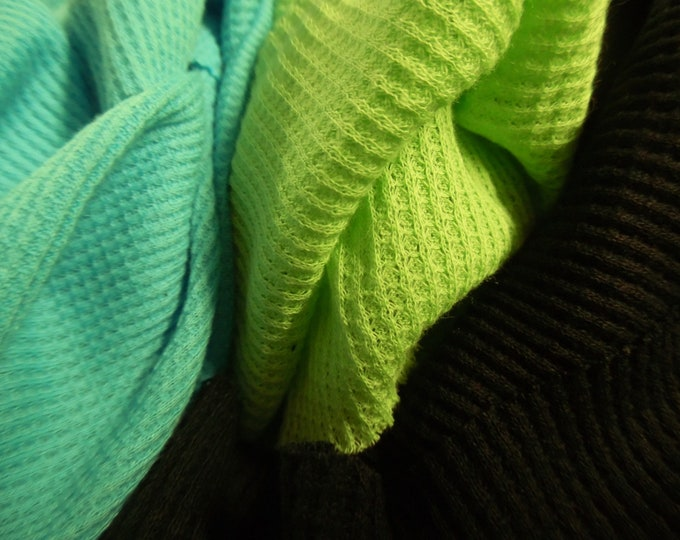 Stash Builder~Cotton Waffle Knits~Three Colors~Great for Doll Tops/Sweaters/Hats