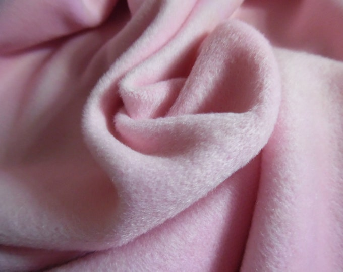 """Cashmere Wool Coating~Baby Pink~12""""x30""""~Doll Fabric"""