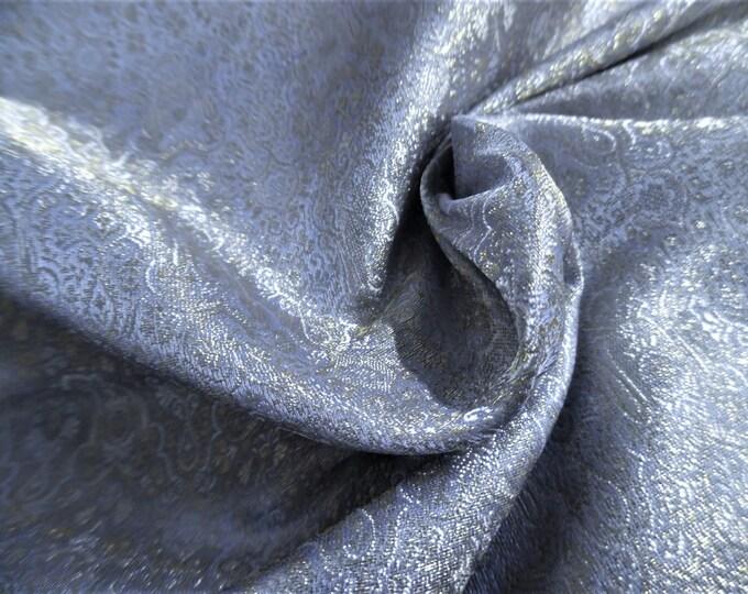 "Micro Print Silk Jacquard Brocade~Lavender/Gold/Pearl~9""x22""~Doll Fabric~Miniatures~100% Silk~Light Weight"