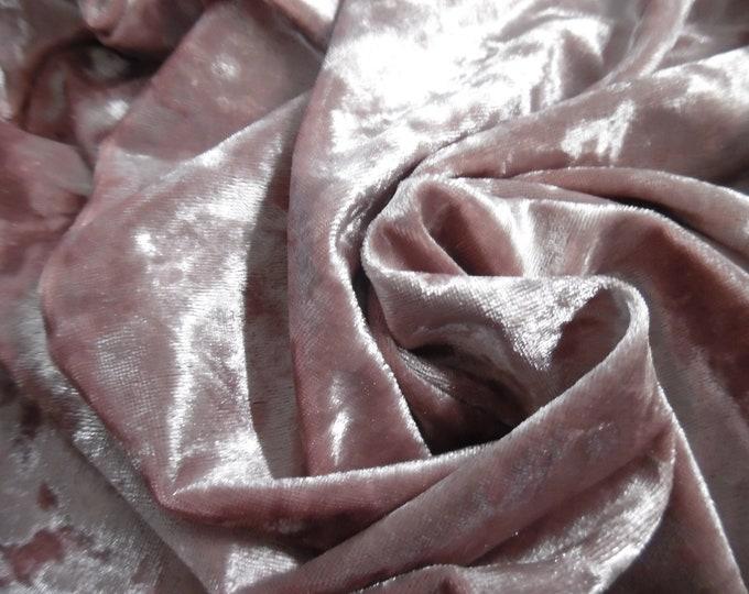 "Plush Panne' Velvet~Vintage Pink~12""x30""~Stretchy~Shiny~Doll Fabric"