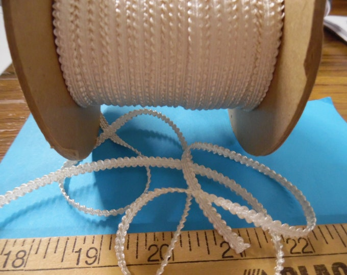 Old Stock Passementerie Braid~Ivory Pearl~Silky Rayon~3/16~BY THE YARD