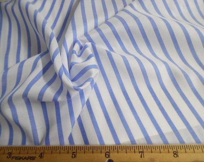 "Imported Stripe Cotton Batiste~Blue & White~12""x58""~Doll Fabric"
