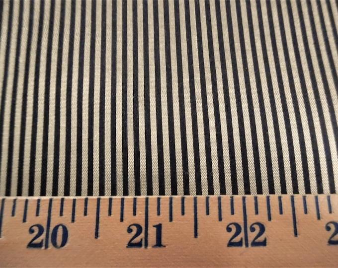 "Micro Stripe Silk~Gold & Black~9""x22""~Doll Fabric~Miniatures"