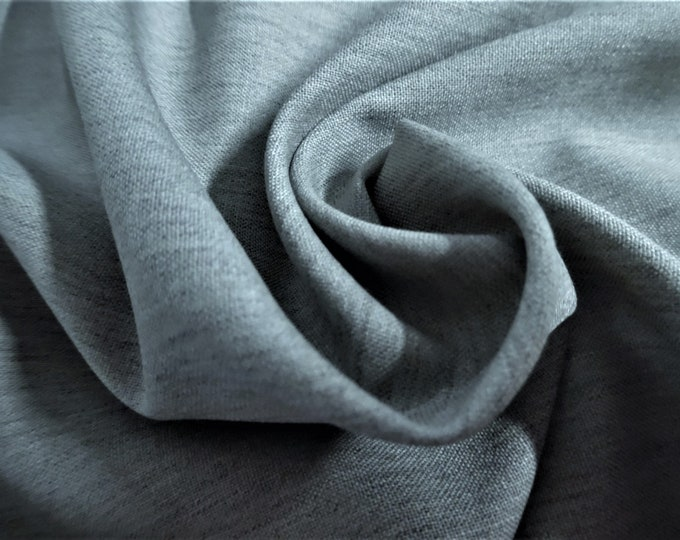 """Light Weight Wool Suiting~Heathered Storm Gray~14""""x28""""~Doll Fabric"""