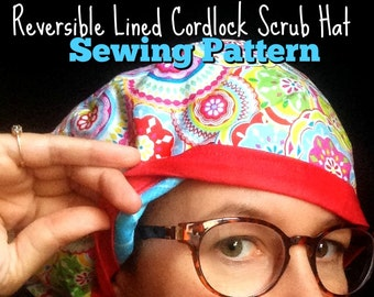 b3050c15fc7 Scrub Hat Sewing Pattern Tutorial diy Reversible Fully Lined Surgical Scrub  Cap Instructions with Adjustable DOWNLOAD ONLY  dbap006