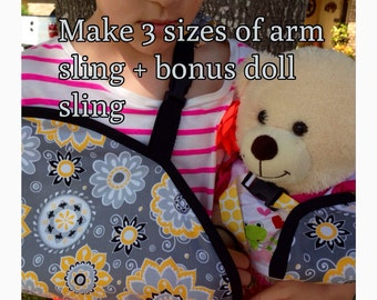 DIY Arm Sling Cast Cover Sewing Pattern Three Sizes Kids & Adults plus Bonus Doll Sling Pattern PDF digital download ONLY #dbapcc
