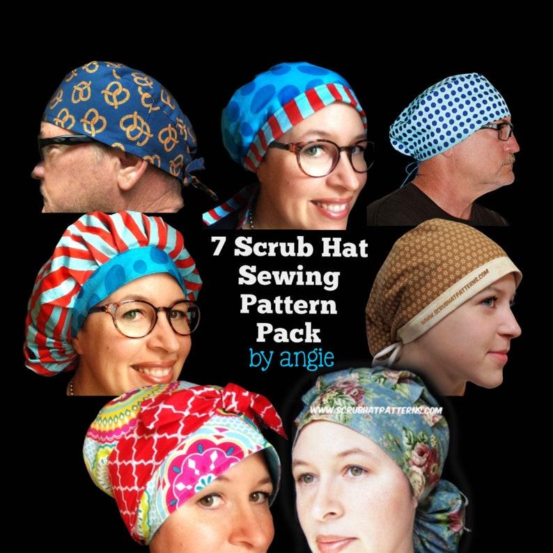 Scrub Hat Sewing Pattern tutorial DIY 7 surgical scrub cap image 0