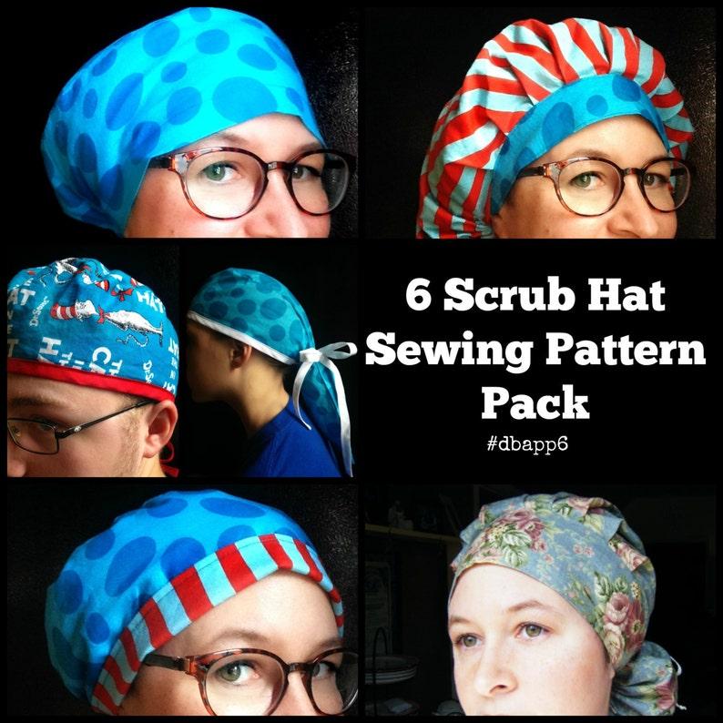 c459e1c80ae Scrub Hat Sewing Pattern DIY Scrub cap Sewing tutorial | Etsy