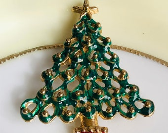 Christmas Tree Brooch/Gift Boxed