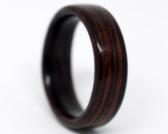 Rosewood Wood Ring Custom Made to Your Size (Other Woods Available) / Wooden Wedding Ring / Mens Wood Ring / Womens Wood Ring / MnMWoodworks