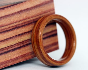 Tulipwood Wood Ring Custom Made to Your Size (Other Woods Available) / Wooden Wedding Ring / Mens Wood Ring / Womens Wood Ring MnMWoodworks