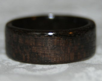 Custom Wide Ziricote Wood Ring or Wedding Band (made to your size - other woods available)