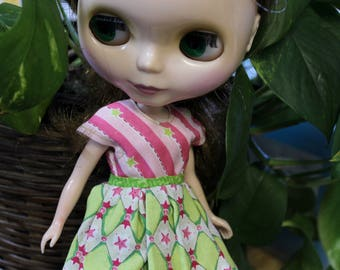 Blythe Pink and green dress