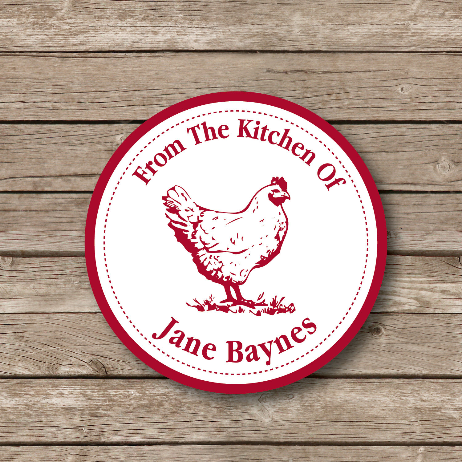 Personalized baking stickers rooster sticker baking labels baked goods stickers from the kitchen labels personalized labels