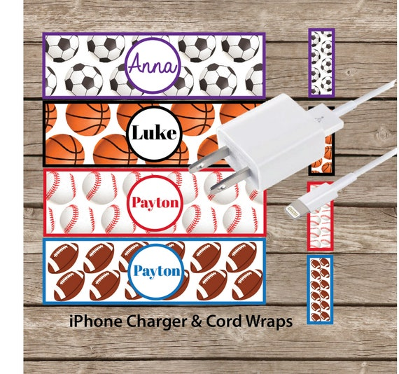 iPhone Charger Decal Wrap Sports theme