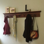 School house vintage trim coat rack Extra Long