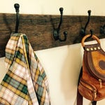Custom hole placement for Reclaimed Barn Wood Coat Rack