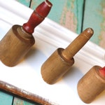 Red Rolling Pin Hook Rack
