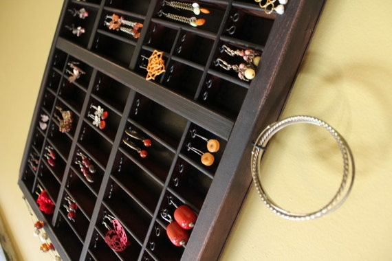 Espresso Printer Drawer Jewelry Display by Bluebirdheaven