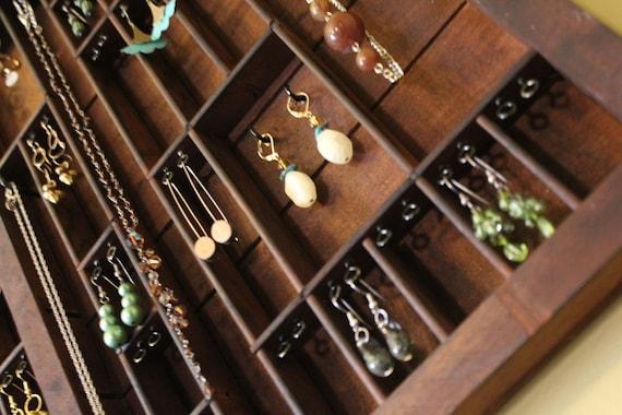 Printers Typeset Tray Jewelry Display