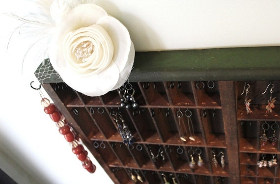 Repurposed Printer Drawer Jewelry Hanger