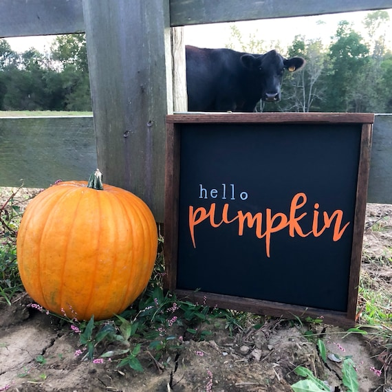 Hello Pumpkin Farmhouse Sign