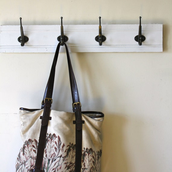 Simple White Coat Rack