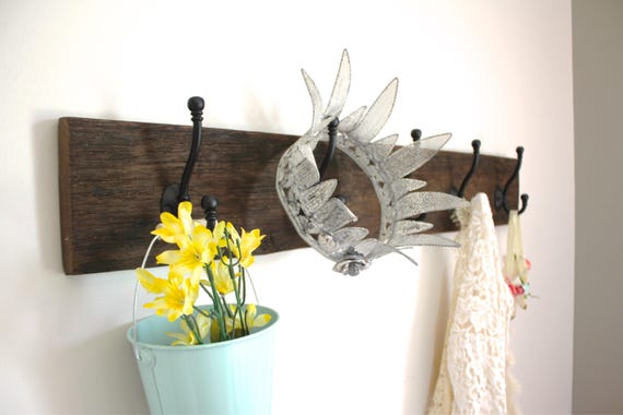Reclaimed Barn Wood Coat Rack