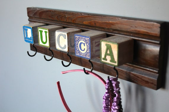Baby Block Custom Name Coat Rack