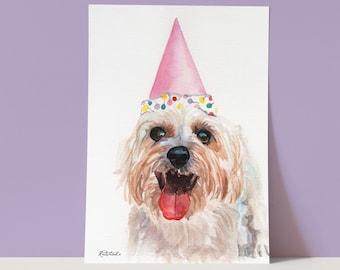 Shih Tzu dog Art Print, Shih Tzu dog watercolor painting print, Shih Tzu dog Art, Wall Art, home decor, Redstreake